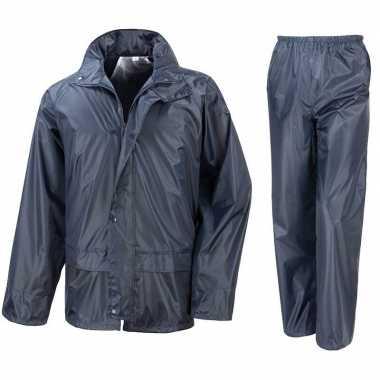 Regenpakken navy blauw voor jongens