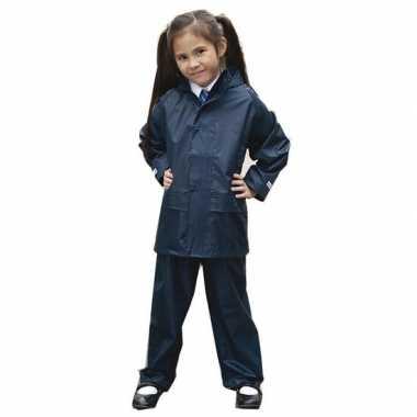 Regenpakken navy blauw voor meisjes