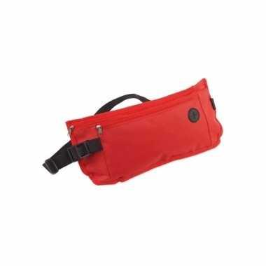 Reis heup tas waterproof rood 35 cm