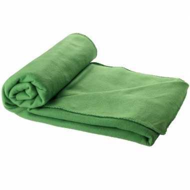 Reisdeken groen met tasje 150 cm