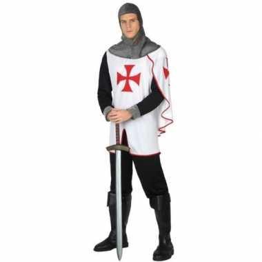 Ridder kruistocht verkleed pak voor heren