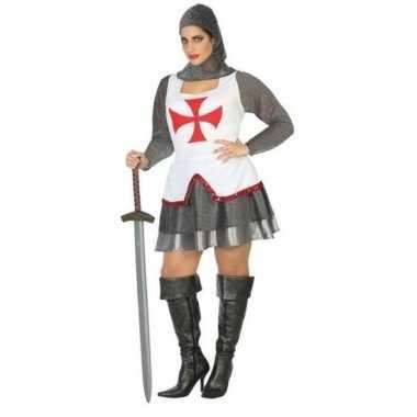Ridder/kruisvaarder kostuum/set voor dames