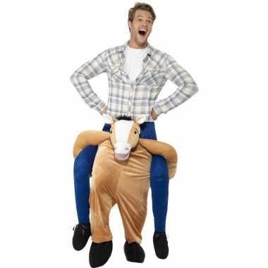 Ride on dierenpak kostuum paard voor volwassenen