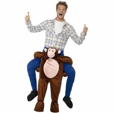 Ride on kostuum aap voor volwassenen