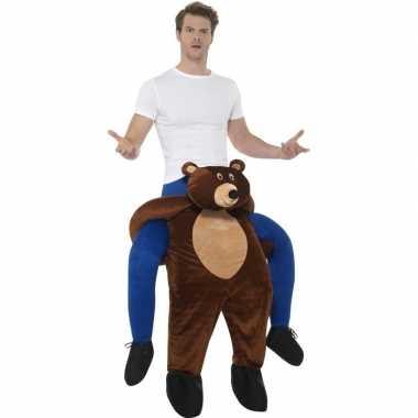 Ride on kostuum beer voor volwassenen