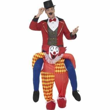 Ride on kostuum clownspak voor volwassenen