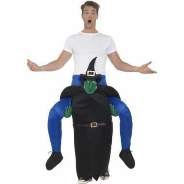 Ride on kostuum heks voor volwassenen