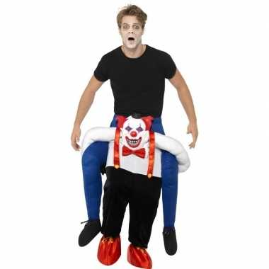 Ride on kostuum horror clown voor volwassenen