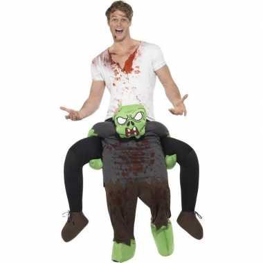 Ride on kostuum zombie pak voor volwassenen