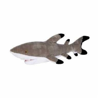 Rif haai met zwarte punt pluche 75 cm