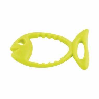 Ringen om op te duiken lichtgroene vis