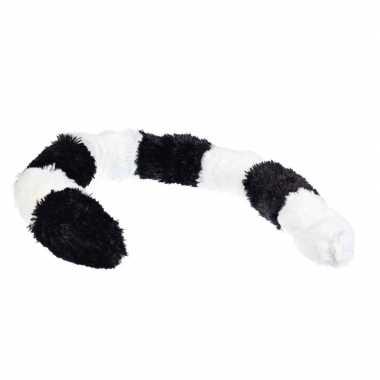 Ringstaart maki dieren verkleedset staart met clip 68 cm