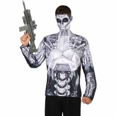 Robot shirt verkleedoutfit