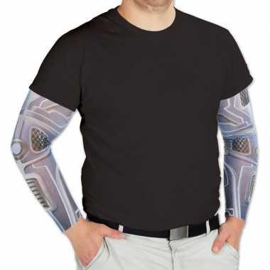 Robot verkleed/feest tattoosleeves voor volwassenen