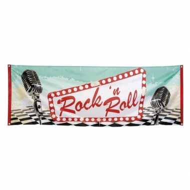 Rock and roll banner 74x220 cm