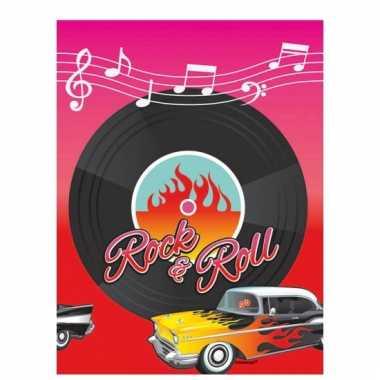 Rock and roll thema tafelkleed