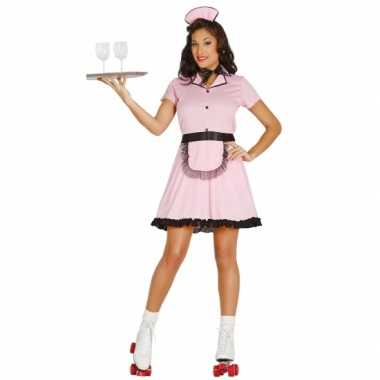 Rock en roll serveerster kostuum