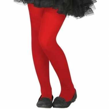 Rode 40 denier panty voor kinderen