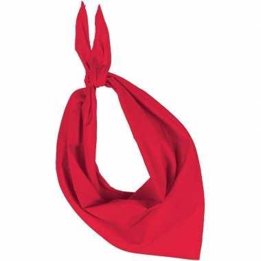 Rode basic bandana/hals zakdoeken/sjaals/shawls voor volwassenen