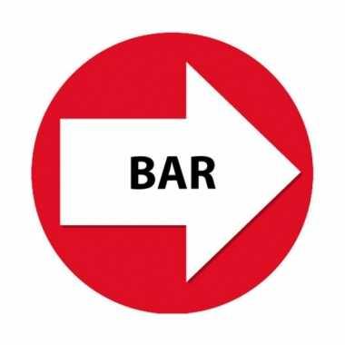 Rode bewegwijzering stickers bar 4 st