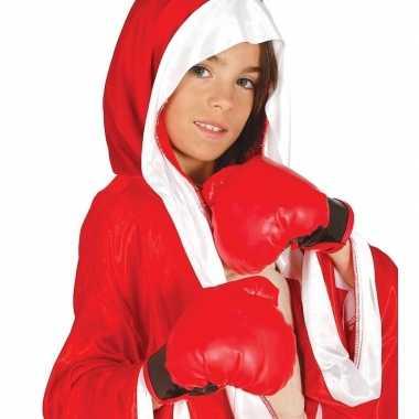 Rode bokshandschoen voor kinderen