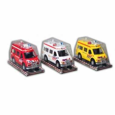 Rode brandweer auto 26 cm