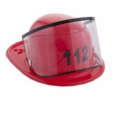 Rode brandweerhelm haarspeld voor dames