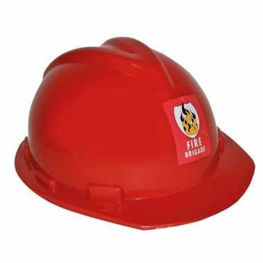 Rode brandweerhelm verstelbaar verkleed accessoire volwassenen