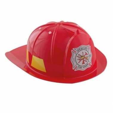 Rode brandweerhelm voor kinderen