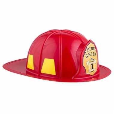 Rode brandweerhelm voor volwassenen