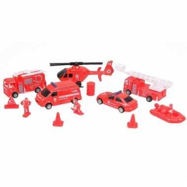 Rode brandweerset 13 delig