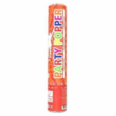 Rode confetti kanon 28 cm