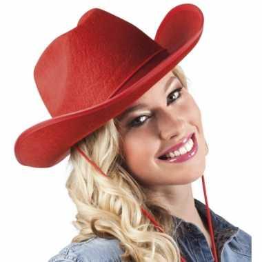 Rode cowboyhoed van vilt