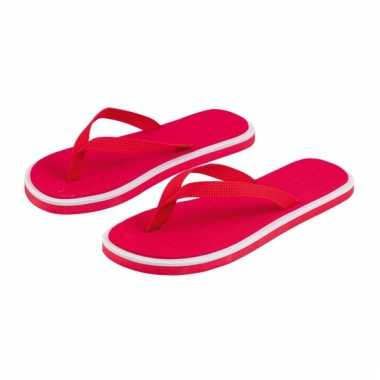 Rode dames slippers