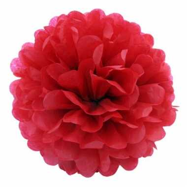 Rode decoratie pompoms 35 cm