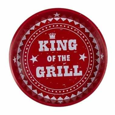 Rode dienbladen king of the grill
