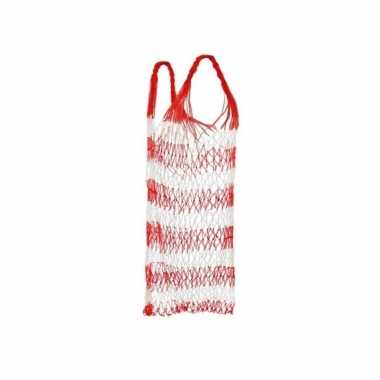 Rode draagnet voor het strand / strandtas 75 cm