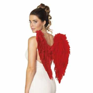 Rode duivel of engelen vleugels 50 cm