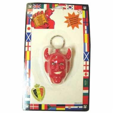 Rode duivels sleutelhangertje
