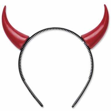 Rode duivelshoorntjes haarband