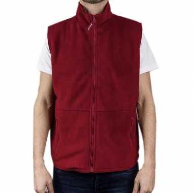 Rode fleece bodywarmer werkkleding voor volwassenen