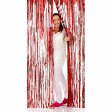 Rode folie deurgordijnen 2 x 1 meter