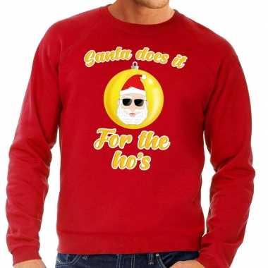 Rode foute kersttrui kerstman does it for the ho's voor heren