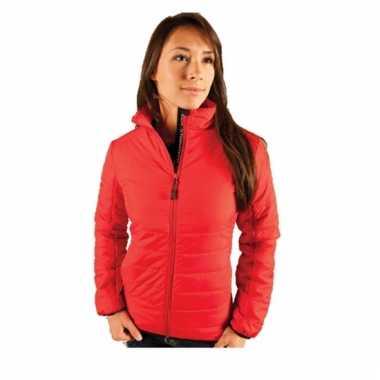 Rode gewatteerde dames jas