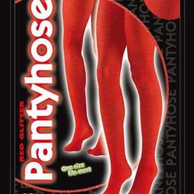 Rode glanzende panty 40 denier