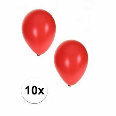 Rode grote ballonnen 10 stuks