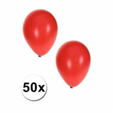 Rode grote ballonnen 50 stuks