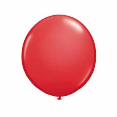 Rode grote qualatex ballon 90 cm