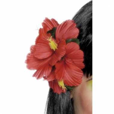 Rode haarbloemen met clip