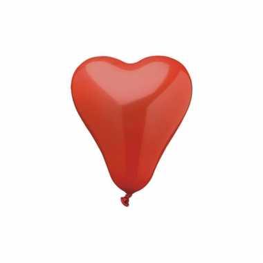 Rode hartjes ballonnen 50 stuks